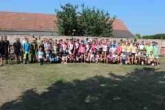 Spoločná fotografia účastníkov podujatia Tour de priehrady 2018