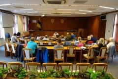 Veľká zasadačka na mestskom úrade Topoľčany, kde sa uskutočnilo zasadnutie Regionálnej rady Topoľčany.