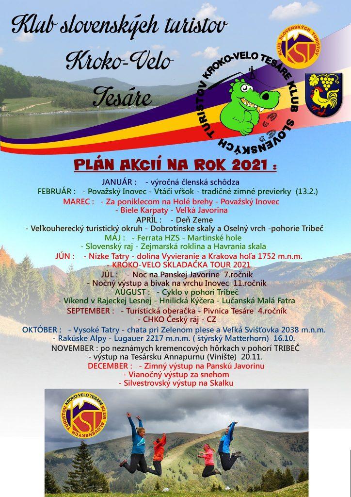 Plán KST Kroko-Velo Tesáre na rok 2021